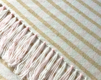 """Hand woven blanket 24"""" x 34"""" baby puppy dog chair lap"""