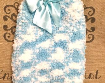 "Small 12""L 14""G hand knit dog puppy sweater jumper coat (sleeveless)"