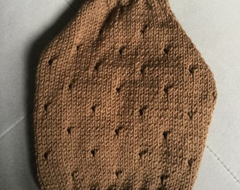 "Small 11.5""L 14""G hand knit dog puppy sweater jumper coat (raglan sleeved)"