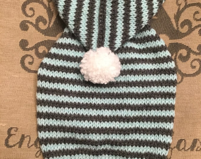 "Featured listing image: Small 12""L 14""G hand knit dog puppy sweater jumper coat (raglan sleeved)"