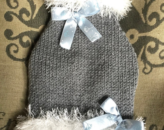 """Featured listing image: XSmall 9.5""""L 12""""G hand knit dog puppy sweater jumper coat (raglan sleeved)"""