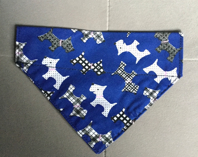 "Featured listing image: Small/medium dog collar bandana 7"" wide 5"" long"