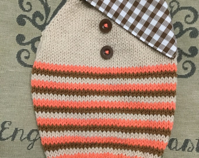 """Featured listing image: Small 12""""L 14""""G hand knit dog puppy sweater jumper coat (raglan sleeved)"""