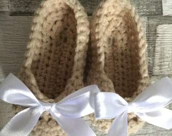 Crochet Baby crib shoes 0-3 months