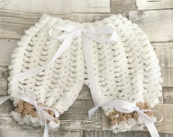Crochet Baby bloomers size 0-3 months