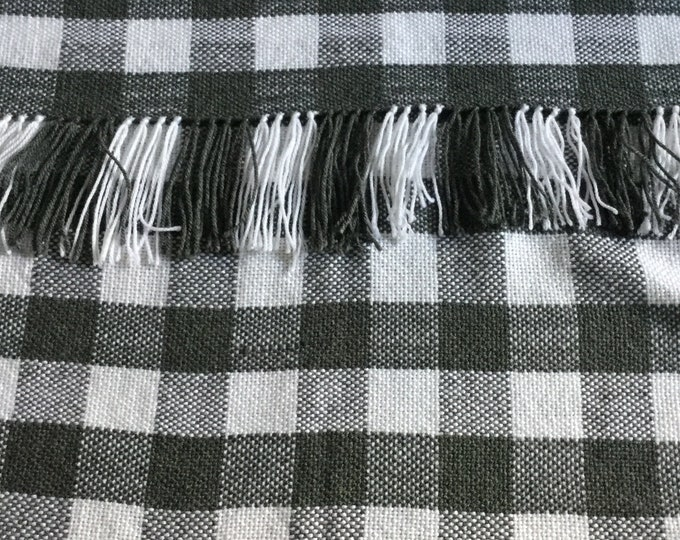 """Featured listing image: Hand woven check blanket 27"""" x 50"""""""