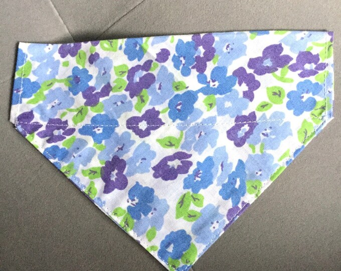 "Featured listing image: Small/medium dog collar bandana 7"" wide 5"" long"