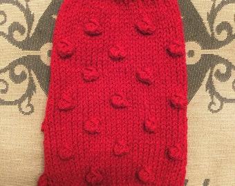 "XSmall 10""L 10""G hand knit dog puppy sweater jumper coat (sleeveless)"