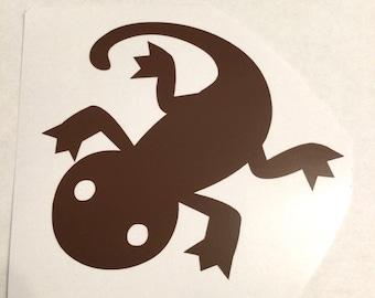 "Vivarium tank personalised decal sticker hedgehog snake frog spider snail lizard fish bird 4"" x 4"""