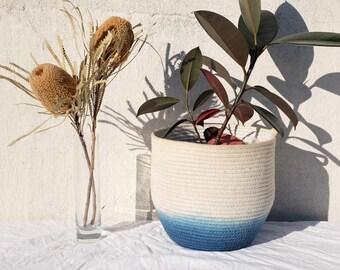 High Tide Indigo hand dyed Medium rope bowl