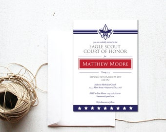 INSTANT DOWNLOAD Eagle Scout Court of Honor custom invitation / downloadable invitation / custom Eagle Court invite