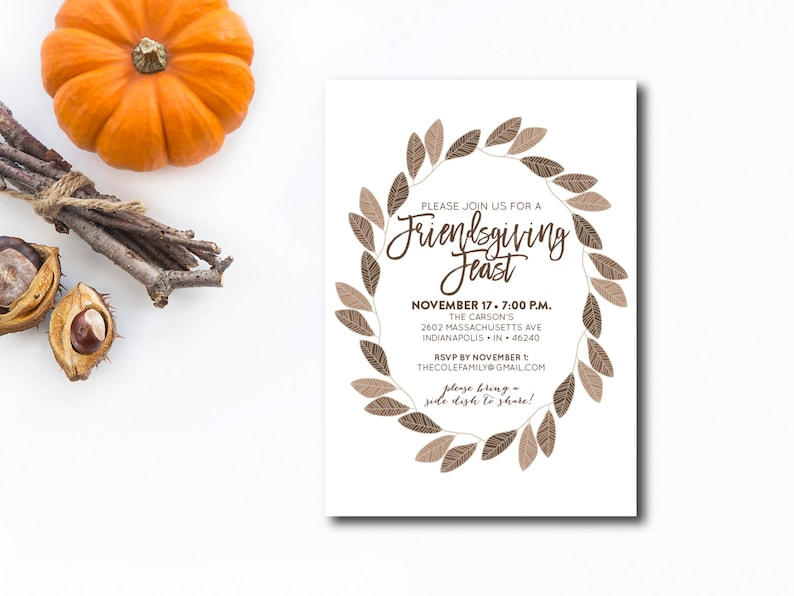 INSTANT DOWNLOAD Friendsgiving invitation / friendsgiving image 0