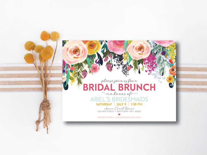 INSTANT DOWNLOAD bridal luncheon invitation / bridal brunch image 0