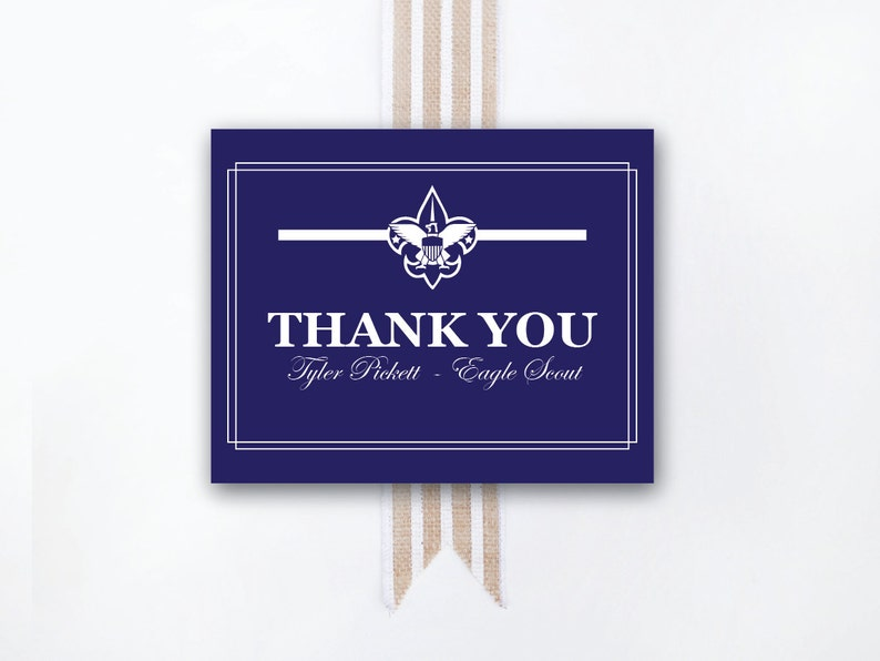 INSTANT DOWNLOAD Eagle Court of Honor thank-you note / Eagle image 0