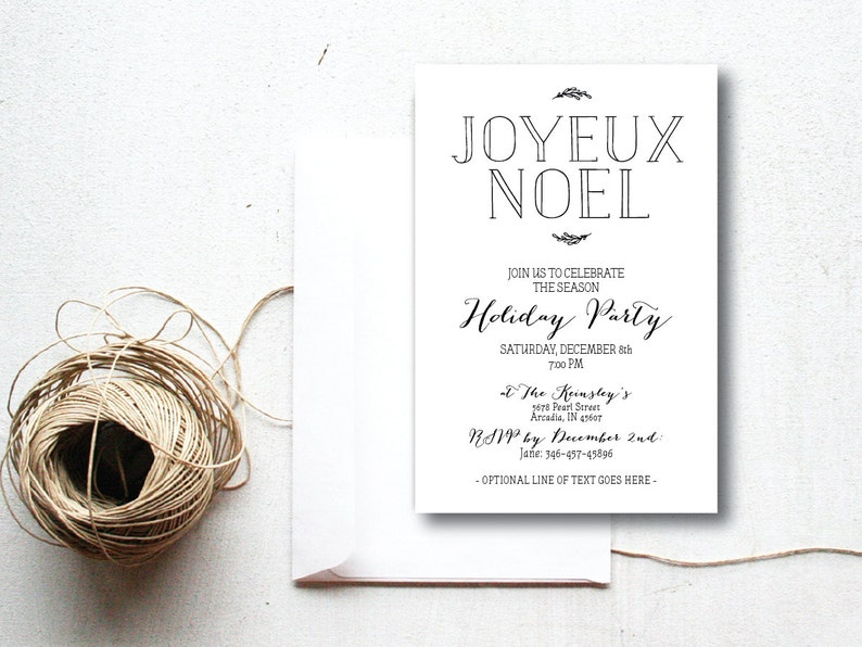 INSTANT DOWNLOAD Christmas party invitation / simple Christmas image 0