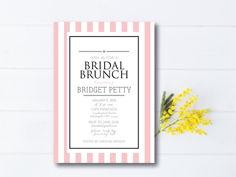 INSTANT DOWNLOAD bridal luncheon / bridesmaids luncheon / image 0
