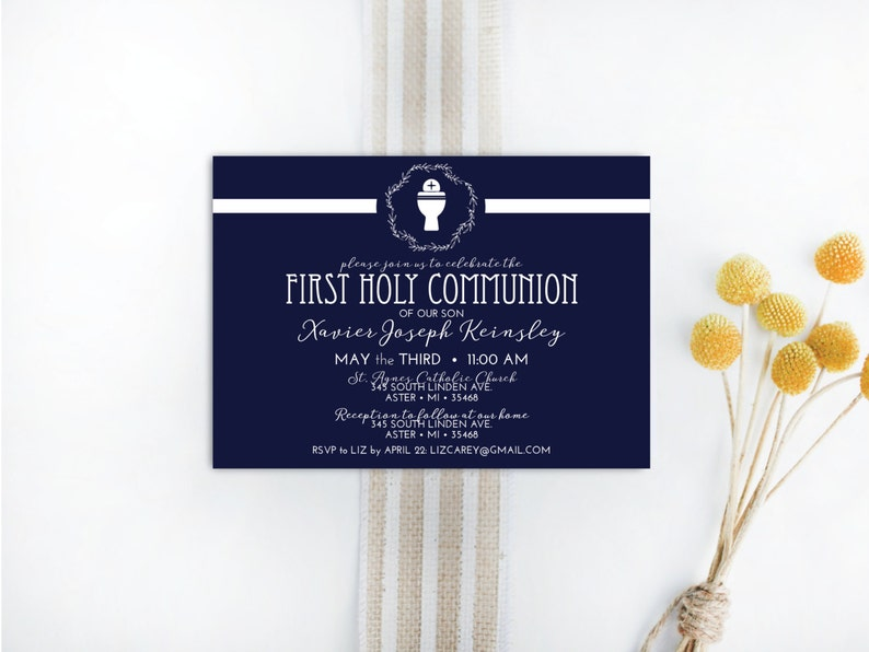INSTANT DOWNLOAD First Holy Communion invitation / First image 0