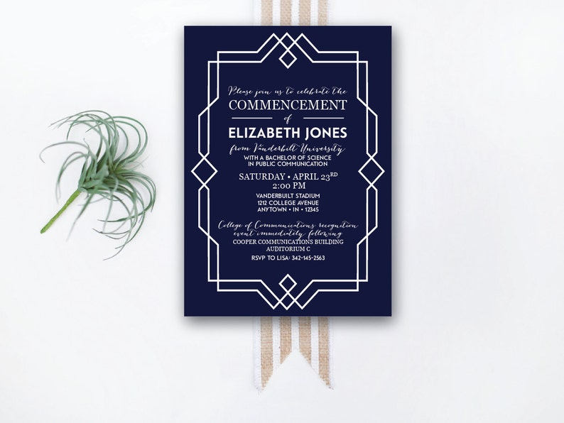 INSTANT DOWNLOAD graduation invitation / commencement image 0