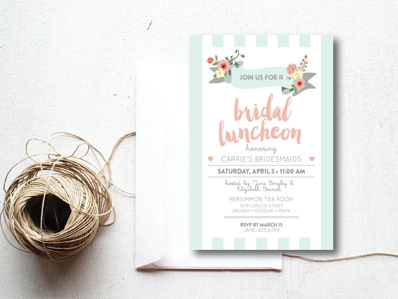 INSTANT DOWNLOAD bridal luncheon invitation / bridal brunch image 0