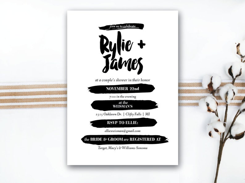 INSTANT DOWNLOAD couple's shower invitation / wedding image 0