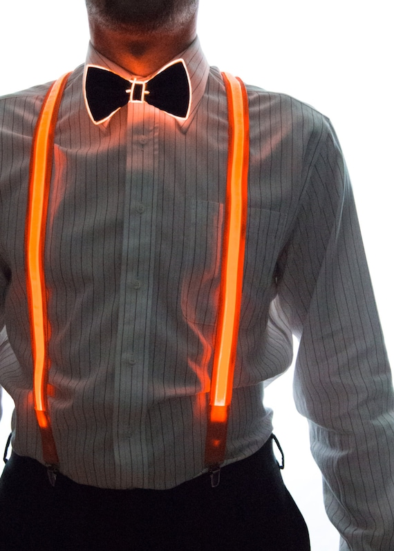 Light Up Bow Tie Neck Glow in the Dark Light Up Rave Wear | Etsy