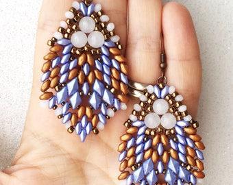 pdf pattern Blue Rain earrings