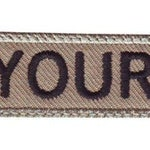 "Military 3"" to  6"" x 1"" "" inches Personalized Embroidered Name Tag Patch"