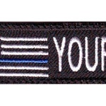 USA Thin Blue Line Custom Embroidered Name Tag Patch