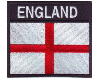 5 x England St George Cross Embroidered Iron On Patches
