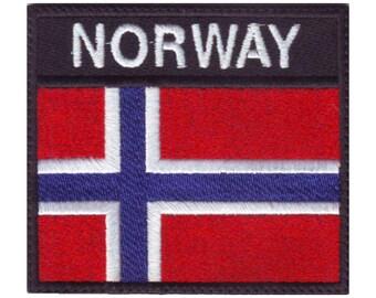 Emblemen Patch ecusson brode imprime voyage souvenir backpack drapeau norvege norvegien