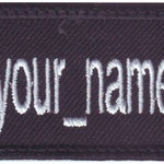 Custom Embroidered Name Tag Patch With Instagram logo (A)