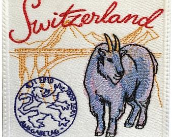 Switzerland Stamp Embroidered Patch