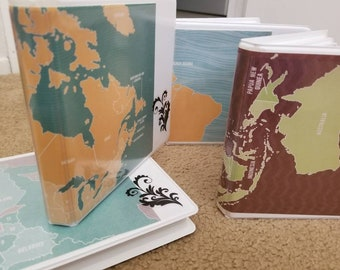 Travel journals, ready to add your postcards, pictures etc.