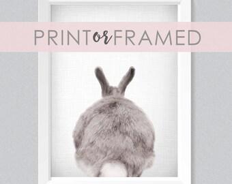 Lil' Darlings 11x14 Bunny Bum Print | Rabbit | Cute | Woodland Animals | Farm Animals | Black + White | Photography | Modern Nursery