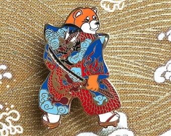 Shiba Dragon Pin_shiba inu_horse fiddle_press