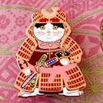 Shogun Cat Red Enamel Pin_cat enamel pin_Samurai_Cat_cat gift_cat pin_pin game_hard enamel pin_japanese_shogun_kawaii_horsefiddlepress