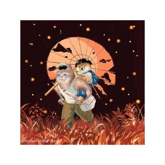 Grave Of The Fireflies Cosplay Poster Grave Of The Etsy