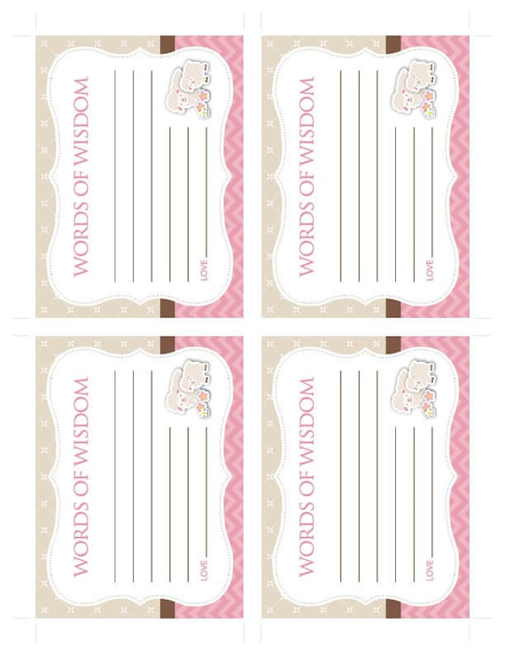 Instant Download Little Lamb Baby Shower Advice Cards Cards Etsy
