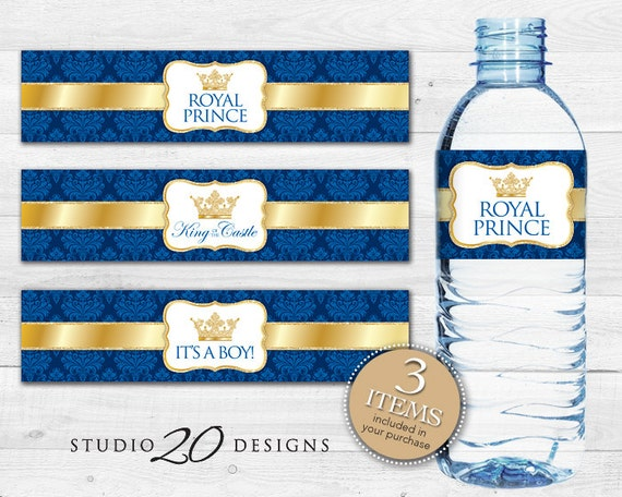 Instant Download Royal Blue Bottle Labels Printable Prince Etsy
