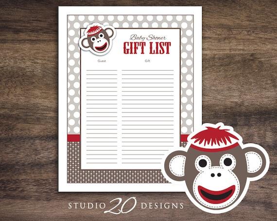 Instant Download Sock Monkey Baby Shower Games Sock Monkey Etsy