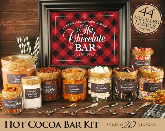 Instant Download Winter Hot Chocolate Bar Kit Printable Etsy