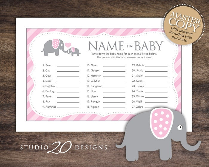 Pink Elephant Game