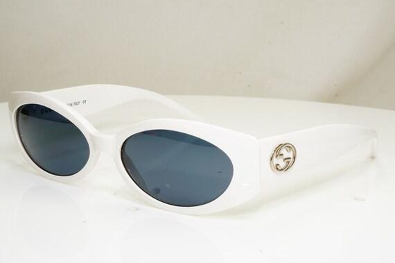 Authentic Gucci Vintage 1990s Sunglasses White Ico