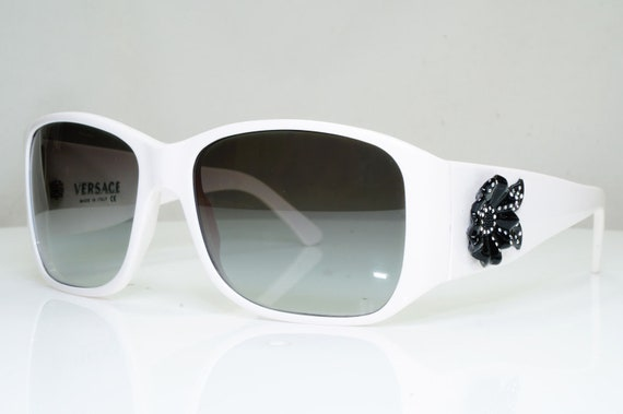 Authentic Versace Vintage Sunglasses White Crystal