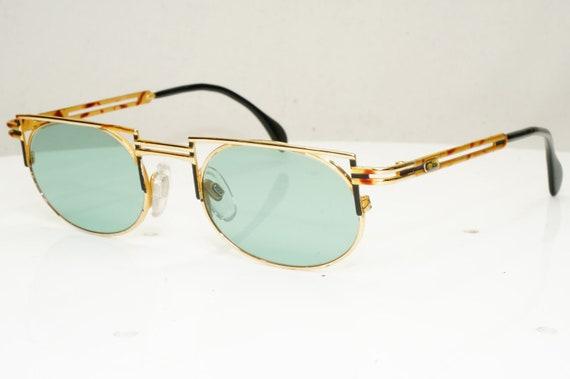Authentic Cazal Mens Vintage Sunglasses Gold Mod 7