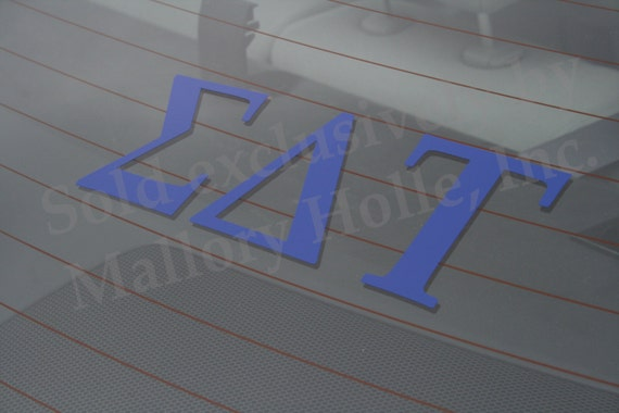 Offically Licensed Sigma Delta Tau 8 x 3 Window Decal White ...