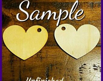 Heart Earrings (1.5 in)- Design It Your Way (DIYW)-  Wooden Earrings- Natural Wood Earrings- Natural Wooden Earrings - Natural Wood-Qty :1