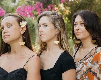 Sunburst II Brass Earrings/ Brass Earrings/ 14K Gold/ Boho Earrings/ Festival Fashion