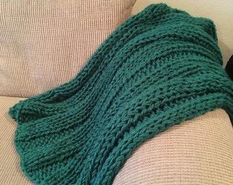 Handknit custom blanket or throw