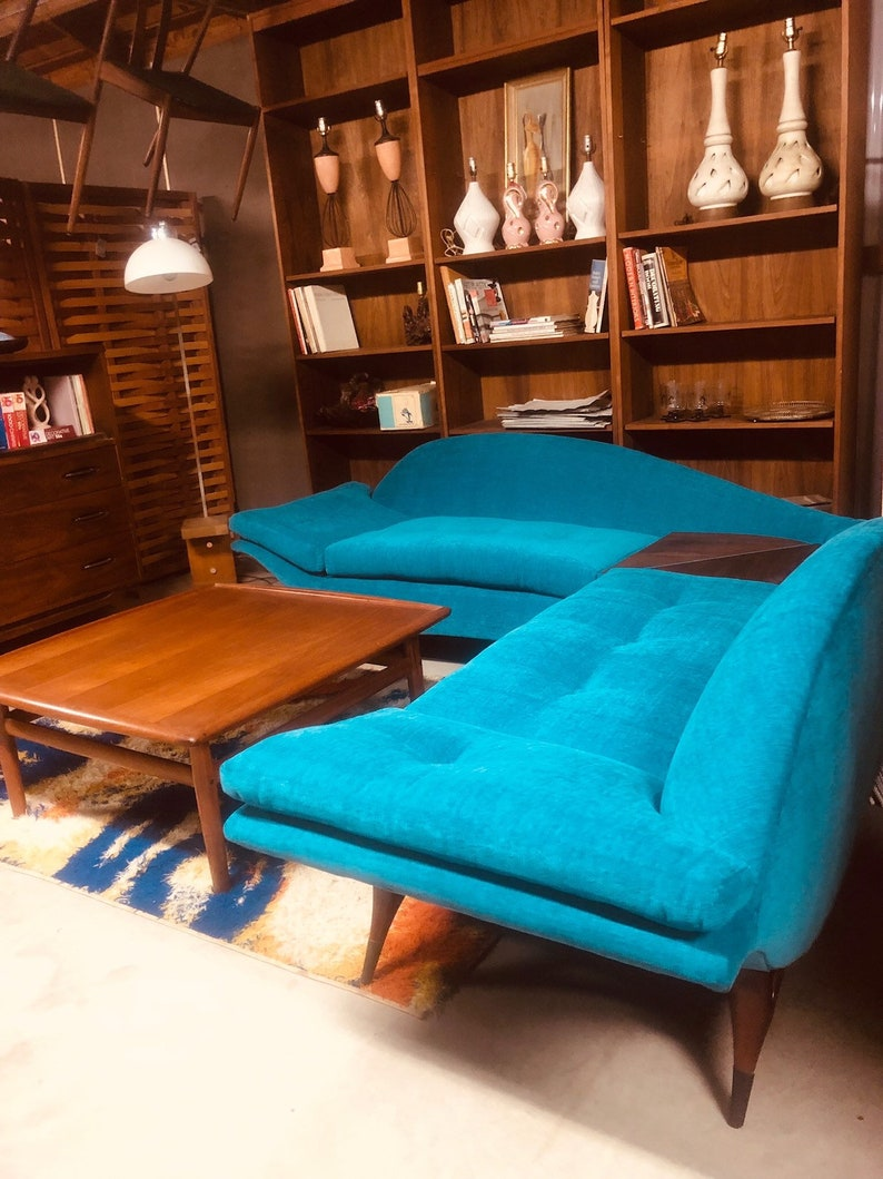 SALE!! Mid Century Modern Karpen Of California Sectional Sofa Couch !!FREE  US Shipping!!